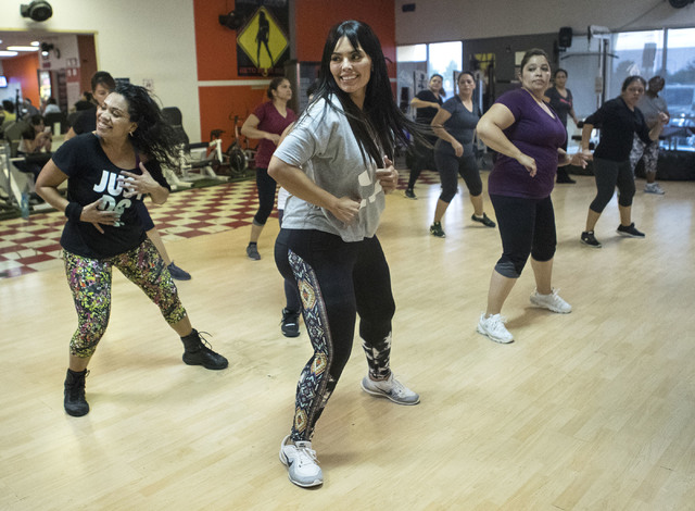 Rosie Mercado participates in a Zumba class at Dance 4 Energy on Sept. 21. (Loren Townsley/View)