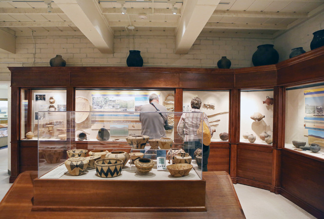 People tour the Lost City Museum Thursday, Oct. 17 2013, in Overton, Nev. The museum, located at 721 S. Moapa Valley Blvd., contains artifacts found in Southern Nevada that give insight to the nat ...