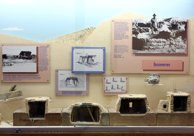 A pueblo dwelling exhibit is shown at the Lost City Museum Thursday, Oct. 17 2013, in Overton, Nev. The museum, located at 721 S. Moapa Valley Blvd., contains artifacts found in Southern Nevada th ...