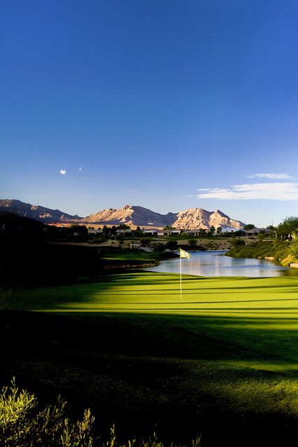 The par-4 ninth hole at Siena Golf Club in Las Vegas is an example of how the course can challenge golf skills. Allan Henry, Golf Chronicles/Special to View
