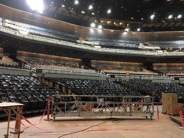 A look at the seating sections Park Theater at Monte Carlo, which opens with Stevie Nicks and the Pretenders on Dec. 17, on Tuesday afternoon. (John Katsilometes/Las Vegas Review-Journal)