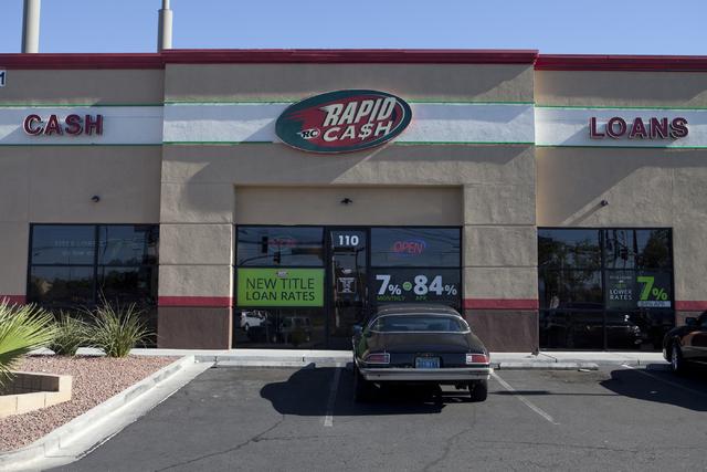 Rapid Cash, a payday lending office, is seen on Washington Avenue in Las Vegas, June 7. (Loren Townsley/View)