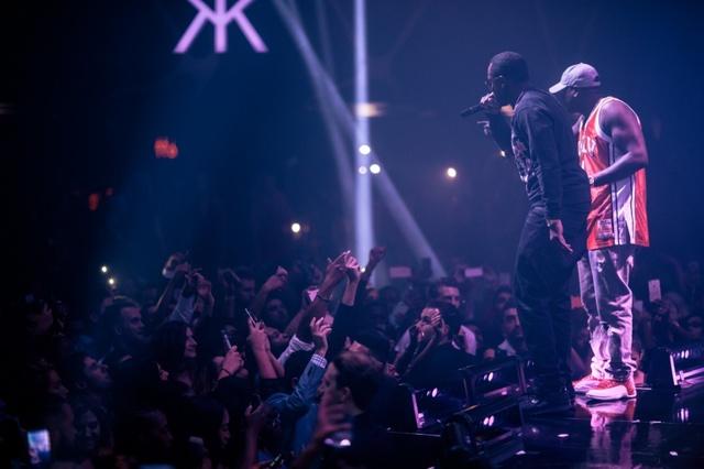Puff Daddy and Judakiss rap at Hakkasan. (Joe Janet)
