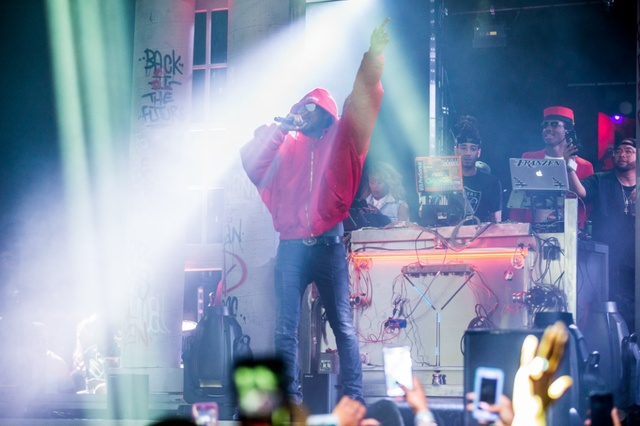 Rapper The Future performed in a Marty McFly jacket Saturday in club Drai's. (Jesse Sutherland/Tony Tran Photography)