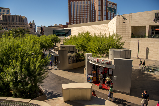 A retail shopping area is seen outside of Fashion Show mall in Las Vegas on Wednesday, Oct. 19, 2016. (Joshua Dahl/Las Vegas Review-Journal)