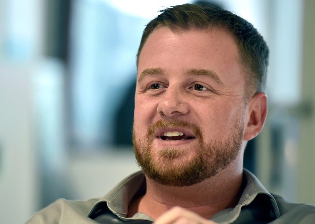 Ryan Negri, managing director of Iron Yard Ventures, talks at University of Phoenix's new RedFlint experience center Monday, Oct. 10, 2016, in downtown Las Vegas. The 11,000 square-foot education  ...