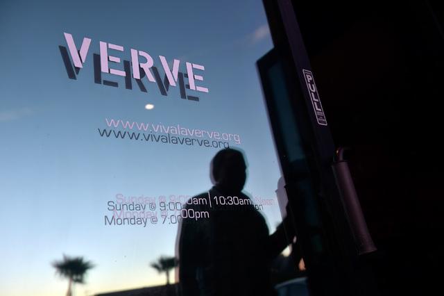 Church members arrive for the evening service at Verve Church on Monday, Oct. 3, 2016, in Las Vegas. (David Becker/Las Vegas Review-Journal Follow @davidjaybecker)