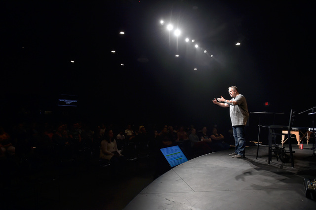 Pastor Vince Antonucci speaks during his evening service at Verve Church on Monday, Oct. 3, 2016, in Las Vegas. David Becker/Las Vegas Review-Journal Follow @davidjaybecker
