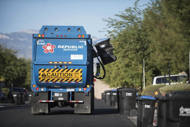 Calendar Republic Services : City of las vegas edges closer to once a week trash pickup
