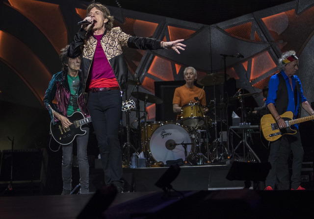 The Rolling Stones perform during their ZIP CODE tour at the T-Mobile Arena in Las Vegas on Saturday, Oct. 22, 2016. Richard Brian/Las Vegas Review-Journal Follow @vegasphotograph