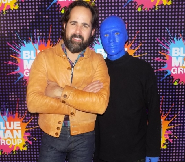 "Ronnie Vannucci at the ""Blue Man Group"" show in the Luxor hotel. (Courtesy)"