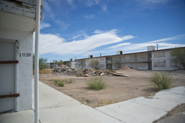 Condominiums are seen at the Moulin Rouge restoration site near Bonanza Road and Martin Luther King Boulevard in Las Vegas on Friday, Oct. 14, 2016. Daniel Clark/Las Vegas Review-Journal Follow @D ...