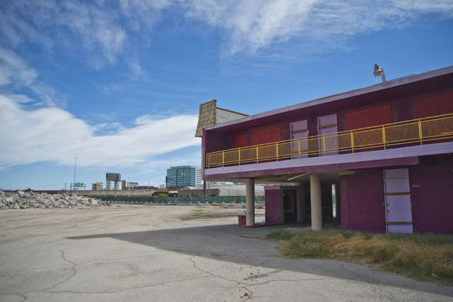 A colorfully painted building is seen at the Moulin Rouge restoration site near Bonanza Road and Martin Luther King Boulevard in Las Vegas on Friday, Oct. 14, 2016. Daniel Clark/Las Vegas Review-J ...