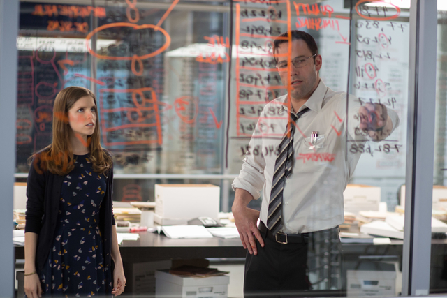 "Anna Kendrick as Dana and Ben Affleck as Christian in Warner Bros. Pictures' ""The Accountant,"" (Chuck Zlotnick/Warner Bros. Pictures)"