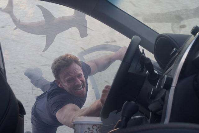 "Ian Ziering stars as Fin Shepard in ""Sharknado 3: Oh Hell No!"" (Photo courtesy of Syfy)"