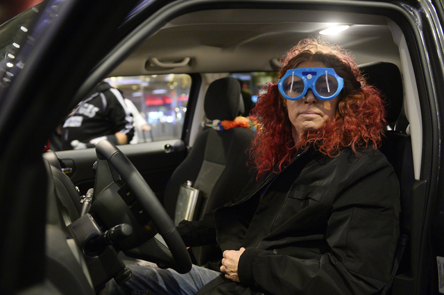 "Carrot Top plays an Uber driver in ""Sharknado: The 4th Awakens."" (Bryan Steffy/Syfy)"