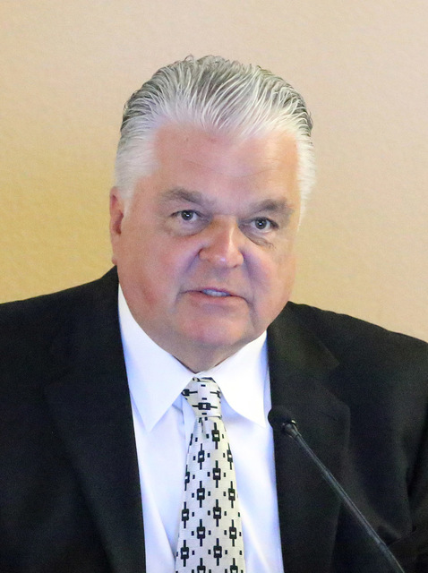 Steve Sisolak. Ronda Churchill/Las Vegas Review-Journal