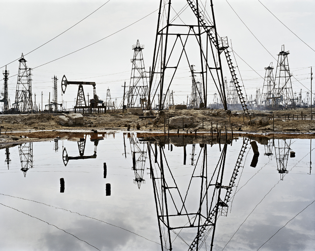 "Edward Burtynsky traveled to the oil fields of Baku, Azerbaijan, in 2006 for ""Oil,"" a three-part project tracing petroleum's international journey -- and consequences -- now on display at UNLV's M ..."