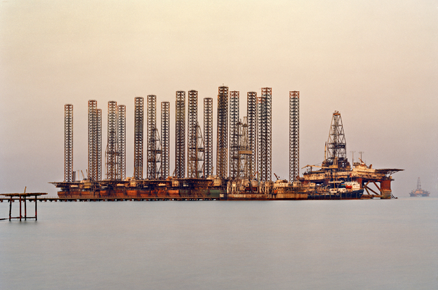 "The SOCAR oil fields of Baku, Azerbaijan, inspire an Edward Burtynsky photograph, shot in 2006 and featured in ""Oil,"" on display at UNLV's Marjorie Barrick Museum through mid-January. COURTESY NEV ..."