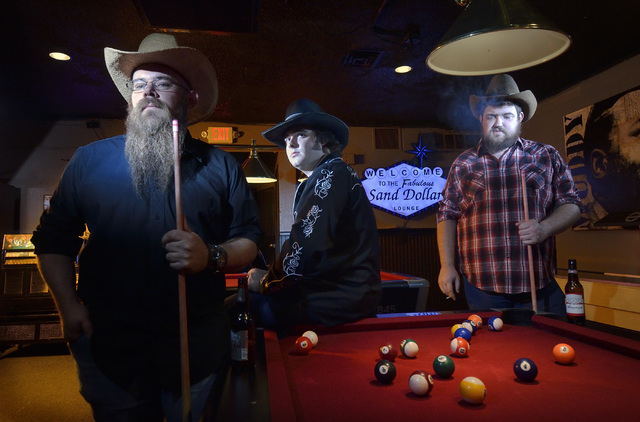 The Reeves Brothers band, from left, Kelly Bishop, Cole Reeves and Matt Reeves are shown at the Sand Dollar Lounge at 3335 Spring Mountain Road in Las Vegas on Thursday, Oct. 13, 2016. Bill Hughes ...
