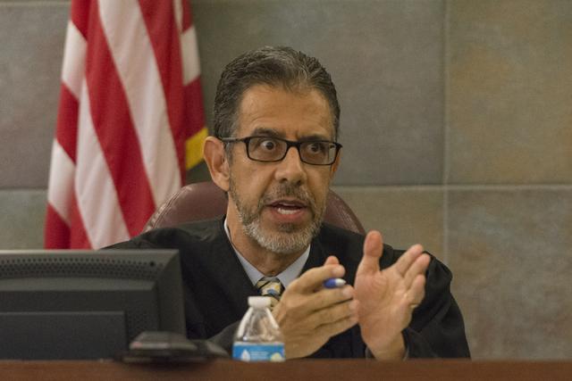 District Judge Michael Villani presides over his courtroom at the Regional Justice Center in Las Vegas, Tuesday, Oct. 25, 2016. Jason Ogulnik/Las Vegas Review-Journal