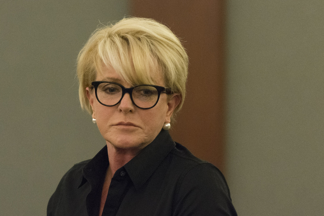 Leslie Parraguirre appears in court during the sentencing for her former bookkeeper, Roxanne Sparks, at the Regional Justice Center in Las Vegas, Tuesday, Oct. 25, 2016. Jason Ogulnik/Las Vegas Re ...