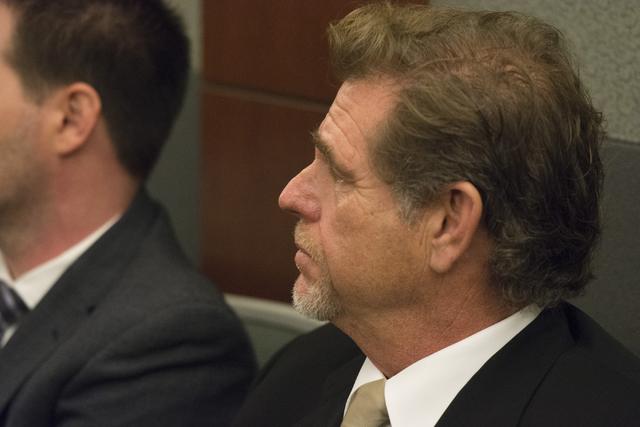 Nevada Supreme Court Justice Ron Parraguirre attends sentencing for former bookkeeper Roxanne Sparks at the Regional Justice Center in Las Vegas, Tuesday, Oct. 25, 2016. Jason Ogulnik/Las Vegas Re ...