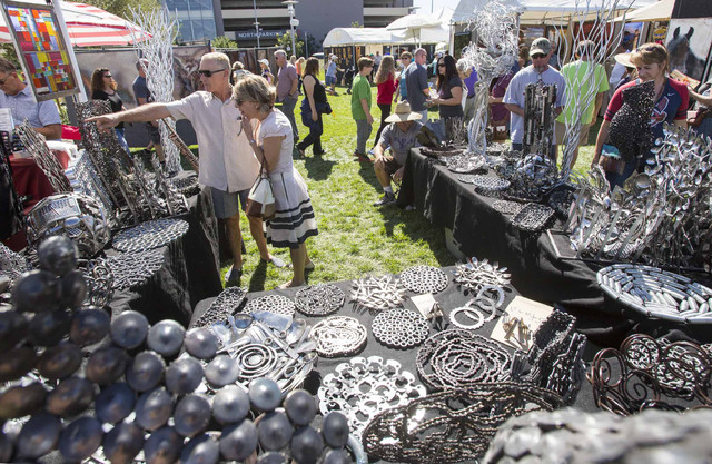 Eclectic artists show off creations at summerlin festival for Jewelry jobs las vegas