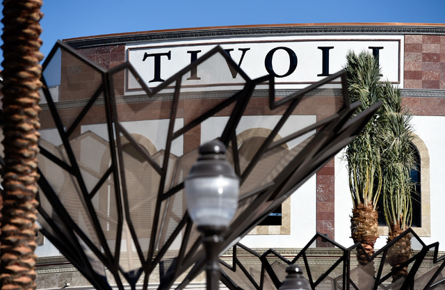 Work continues on the second phase of Tivoli Village, Friday, Oct. 21, 2016, in Las Vegas. An additional 350,000 square-foot of retail and office space is schedule to open at the end of the month. ...
