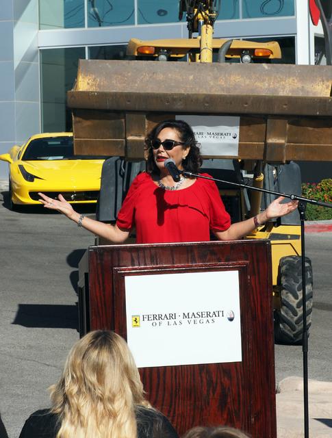 Carolynn Towbin talks about her new Ferrari/Masarati dealership on Sahara Avenue in Las Vegas, Tuesday, Oct. 18, 2016. (Jerry Henkel/Las Vegas Review-Journal)