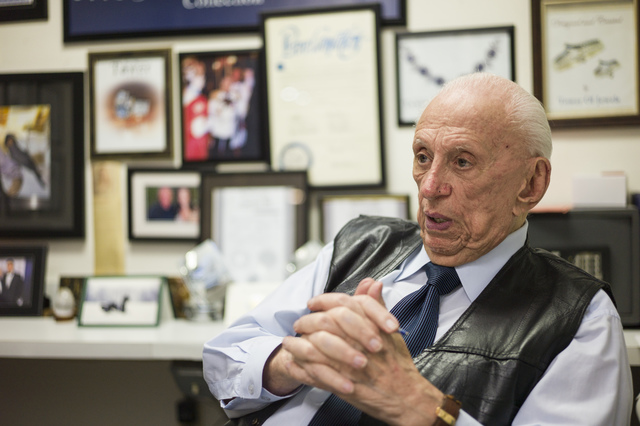Jeweler Jack Weinstein, who opened Tower of Jewels in 1964, is interviewed ahead of his slated retirement at the store in Las Vegas on Thursday, Oct. 13, 2016. (Chase Stevens/Las Vegas Review-Jour ...