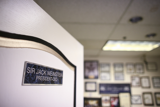 The office of Jack Weinstein, who opened Tower of Jewels in 1964, is shown at the store in Las Vegas on Thursday, Oct. 13, 2016. (Chase Stevens/Las Vegas Review-Journal) Follow @csstevensphoto