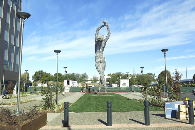 55-foot-tall statue of nude woman stirs controversy in