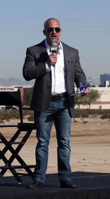 Lorenzo Fertitta, Chairman and Chief Executive Officer of the Ultimate Fighting Championship speaks at the groundbreaking for UFC's headquarters in Las Vegas, Tuesday, Dec. 1, 2015. (Jerry Henkel/ ...
