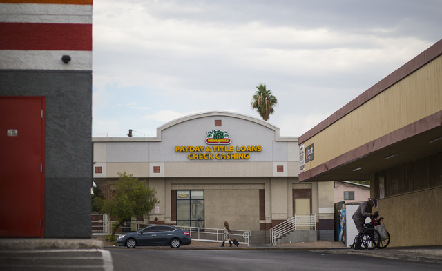 Payday lender Moneytree is shown off Maryland Parkway in downtown Las Vegas on Friday, Oct. 28, 2016. Chase Stevens/Las Vegas Review-Journal Follow @csstevensphoto