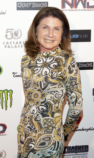 "Executive producer Susan Cooper is shown during a red carpet event for the premier of ""Unchained: The Untold Story of Freestyle Motocross"" at Caesars Palace hotel-casino at 3570 S. L ..."