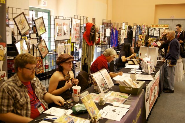 Artists display their work during the 2013 Vegas Valley Comic Book Festival. (Special to View)