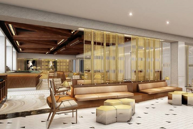 The Living Room is seen at the W Las Vegas. It will be the first thing guests will experience as they enter into the W Las Vegas. (W Las Vegas)