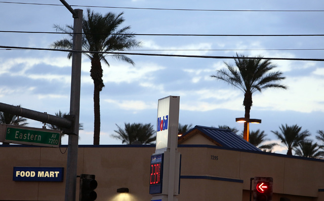 Skies begin to clear in Las Vegas, as seen from Eastern Avenue, after a rainy morning on Monday, Oct. 24, 2016. (Bizuayehu Tesfaye/Las Vegas Review-Journal Follow @bizutesfaye)