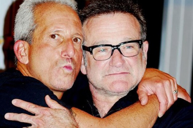 Comedian Bobby Slayton, left, with the late Robin Williams. (John Horstman)