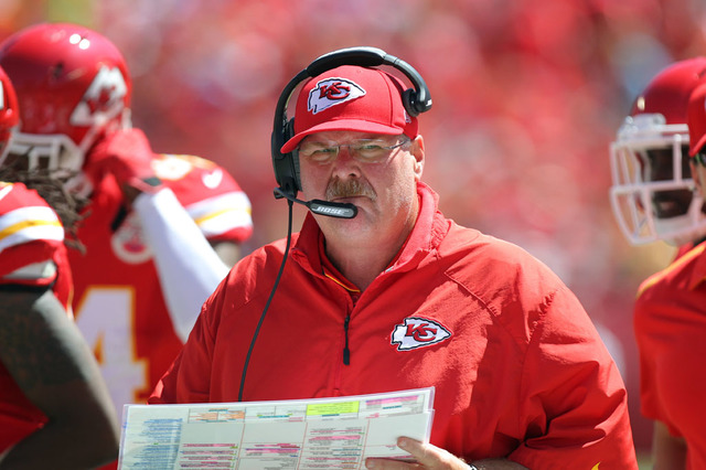 Teams coached by the Chiefs' Andy Reid are 16-2 coming off a bye week during his career. (Ed Zurga/AP)