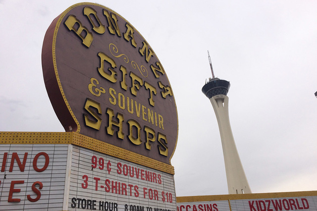 Bonanza Gift Shop, the self-proclaimed world's largest gift shop, is pictured Monday, Oct. 24, 2016, in Las Vegas. (Eli Segall/Las Vegas Review-Journal)