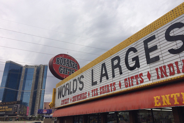 Bonanza Gift Ship, the self-proclaimed world's largest gift shop, is pictured Monday, Oct. 24, 2016, in Las Vegas. (Eli Segall/Las Vegas Review-Journal)