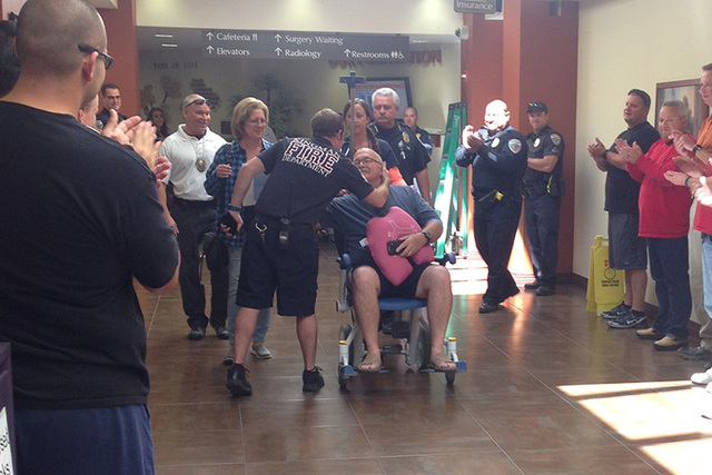 Kingman police detective Dennis Gilbert was released from the hospital on Wednesday. (Kingman Police Department)