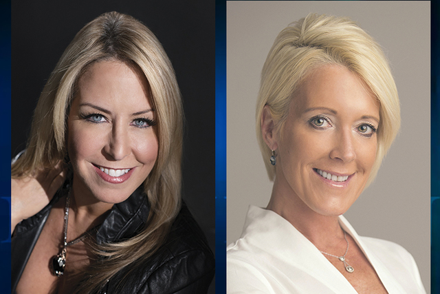 Luxury Las Vegas Publisher Blue Ash, left, and Editor in Chief Leslie Frisbee, right.