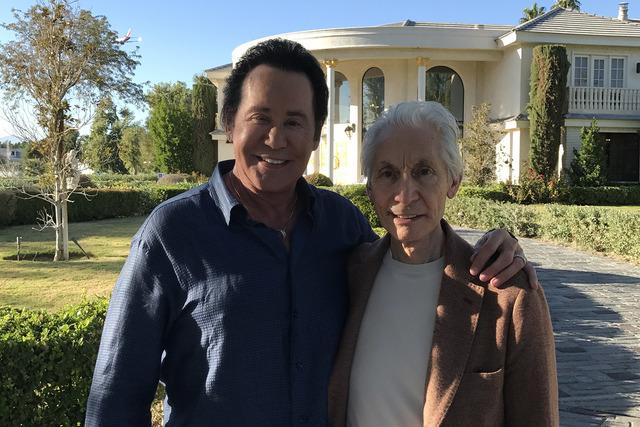 Wayne Newton and Charlie Watts, shown Friday at Casa de Shenandoah. (Courtesy photo)