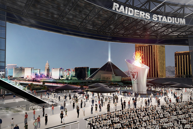 A rendering shows how the proposed domed stadium for Las Vegas might look. (MANICA Architecture)