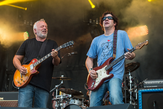 Gene Ween, left, and Dean Ween of Ween perform at Bonnaroo Music and Arts Festival on Sunday, June 12, 2016, in Manchester, Tenn. (Photo by Amy Harris/Invision/AP)