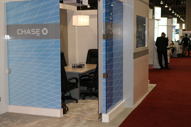The Chase, JP Morgan booth was one of hundreds of exhibits on the Venetian convention floor for Money 20/20, the global conference dedicated to finance and technology held between Oct. 23, 2016 an ...