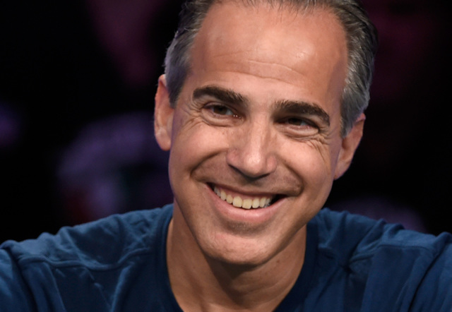 Cliff Josephy of N.Y. smiles during the final table of the Main Event at the World Series of Poker at the Rio hotel-casino, Sunday, Oct. 30, 2016, in Las Vegas. David Becker/Las Vegas Review-Journ ...